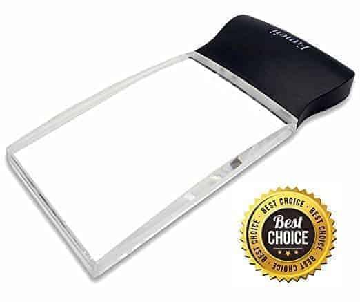 Fancii LED Light 2X Large Rectangular Handheld Reading Magnifying Glass