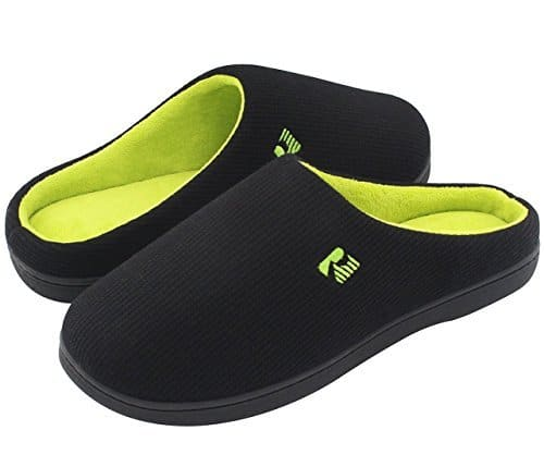 28ffa3e0a4 RockDove s Two-Tone Memory Foam Slippers are an inexpensive option that is  perfect for warm weather wear. They are made of a 95% cotton upper material  ...