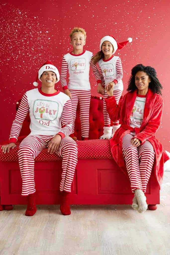 chasing fireflies have a number of cute styles for kids and adults that all have the option to be personalized the elf on the shelf family set is - Family Pajamas Christmas
