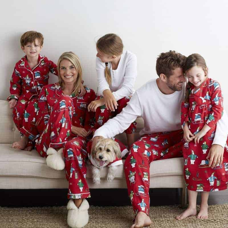 the company store has a great selection of beautifully patterned christmas prints their high quality pjs are made of soft cotton and brushed flannel