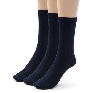 Silky Toes Pairs Women's Bamboo Ribbed Dress Socks