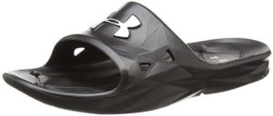 50a1f12d7b2c An athletic slide that works great as a shower shoe is the Under Armour  Men s Locker III Slide Cross-Trainer Shoe. It can be somewhat hard to find  an ...