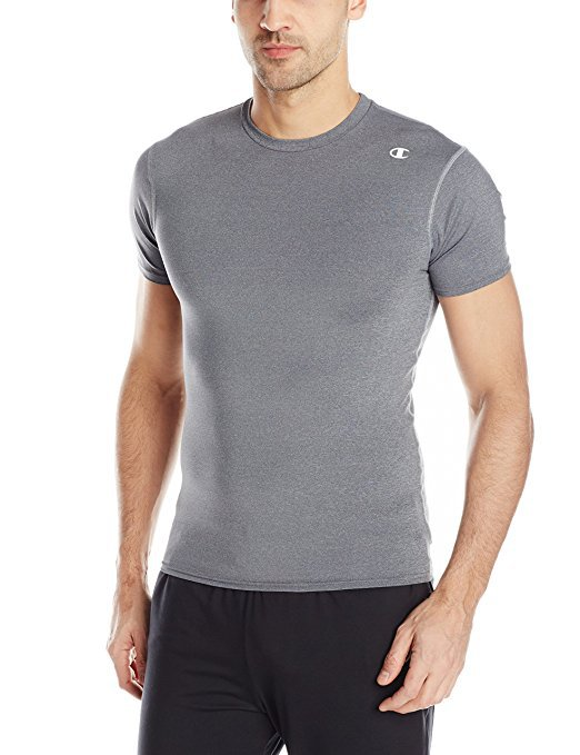 aa1b30481 Another inexpensive option is the Champion Men s Double-Dry Compression  Shirt. This shirt designed for working out due to its high wicking  properties