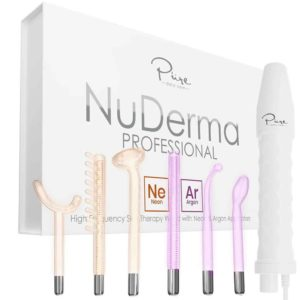 NuDerma Portable Handheld High Frequency Skin Therapy Wand Machine