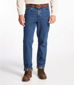 L.L. Bean Fleece and Flannel Lined Jeans
