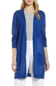 Halogen® Long Linen Blend Cardigan