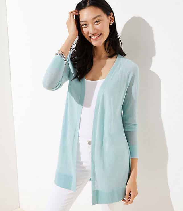 d128097214affa Loft is a great store to get cardigans, especially if you want a style for  a work environment. A favorite summer cardigan for many women is this sheer  open ...