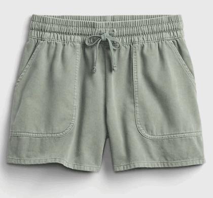 Olive green girls shorts