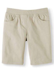 Wonder Nation Uniform Stretch Twill Pull-On Shorts
