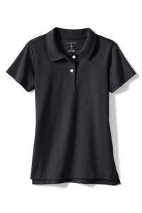 Land's End School Uniform Girls Short Sleeve Feminine Fit Interlock Polo