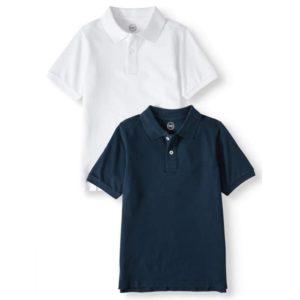 Wonder Nation Boys School Uniform Short-Sleeve Pique Polo