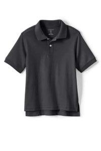Lands' End School Uniform Kids Short Sleeve Interlock Polo